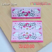 KAR108	Kar Trend Love Hello Kitty Lebar 9cmn (Per Lusin)