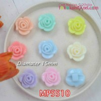 MP5510	Mote Mawar Lubang Bawah diameter 15mm (1 bks isi 12)