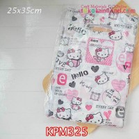 KPM325	Kantong Plastik Motif Hello Kitty uk 25x35cm Handle Oval