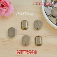 MTT2208	Mote Jahit Etnik Bakar Hexagonal uk 9x13mm (Per Lusin)