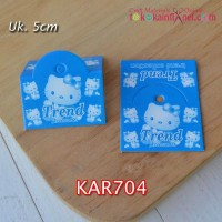 KAR704	KAR (Hang Tag) Hello Kitty Biru lebar 5cm (Per Lusin)