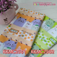 KKMC25	Kain Katun Motif Rabbit & Friends uk. 1mx115cm