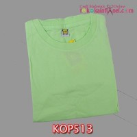 KOP513	Kaos Anak Polos Bahan Carded uk. 3 (8-9 th) Hijau Soft