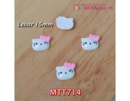 MTT714	Resin Hello Kitty Pita Pink Muda lebar 15mm (Per Satuan)