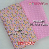 PRCK207	Perca Katun Couple 206 (Motif uk 48x72cm Polkadot uk 48x53cm)