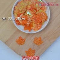 PYT1809	Payet Daun uk 22x20mm Warna Orange (1 Bks 5 gram +/-35 pcs)