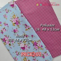 PRCK202	Perca Katun Couple 202 (Motif uk 48x72cm Polkadot uk 48x53cm)