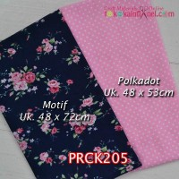 PRCK205	Perca Katun Couple 205 (Motif uk 48x72cm Polkadot uk 48x53cm)