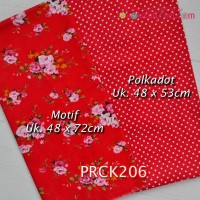 PRCK206	Perca Katun Couple 206 (Motif uk 48x72cm Polkadot uk 48x53cm)