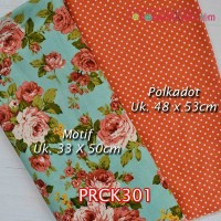 PRCK301	Perca Katun Couple 301 (Motif uk 33x50cm Polkadot uk 48x53cm)