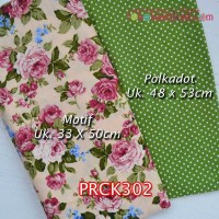 PRCK302	Perca Katun Couple 302 (Motif uk 33x50cm Polkadot uk 48x53cm)