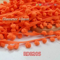 RDB205	Renda Bakso Diameter 10mm - Orange (Per Meter)