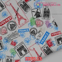 KKV115	Kain Kanvas Motif Stamp France