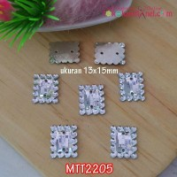 MTT2205	Mote / Diamond Jahit Persegi Bening uk 13x15mm (1 bks isi 24)