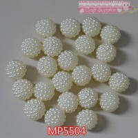 MP5504	Manik Bola Mutiara uk 18mm (Per Butir)