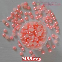MSS223	Manik Mutiara Setengah Uk 8mm Warna Peach (Per Butir)