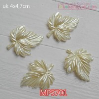 MP5701	Mote Pear Daun Gurat Sirip 3 uk 4x4,7cm (Satuan)