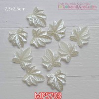MP5703	Mote Pear Daun Gurat Sirip 7 uk 2,3x2,5cm (1 Bks isi 12)