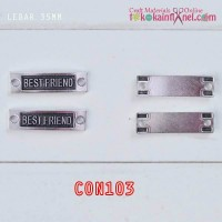"CON103	Connector ""BEST FRIEND"" Besi Silver lebar 3,5cm (Per Satuan)"