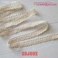 RDJ902	Renda Rajut Cream lebar 18mm (Per Meter)