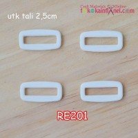 RE201	Ring Kotak uk 25mm Putih (Per Satuan)