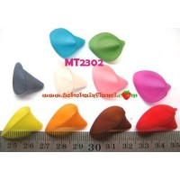 MT2302	Mote Pucuk Bunga Polos 2,5cm warna campur (1 bks isi 12)